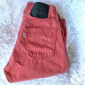 Levi's 514 28 x 30 coral color jeans